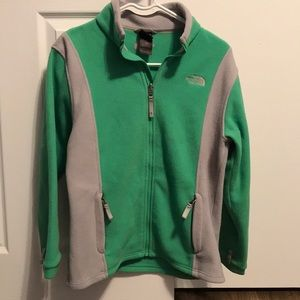 Girls north face zip up